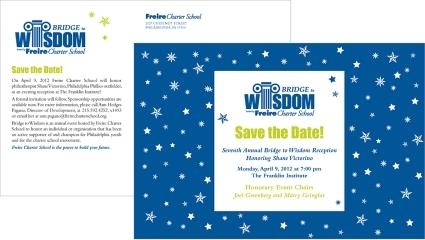 Friere Charter School Bridge to Wisdom Event Save the Date
