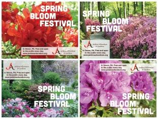 Jenkins Arboretum & Gardens Train Platform Posters - Spring Bloom Festival