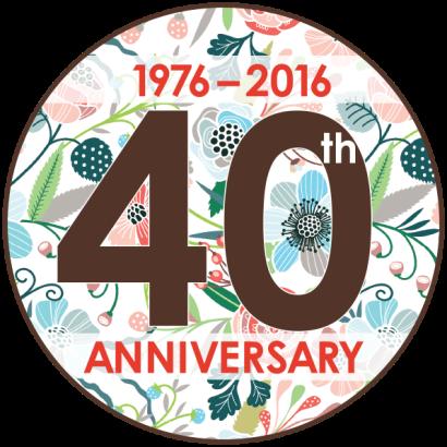 Jenkins Arboretum & Gardens 40th Anniversary Logo