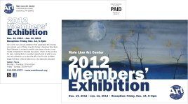 Main Line Art Center Members' Exhibition Postcard