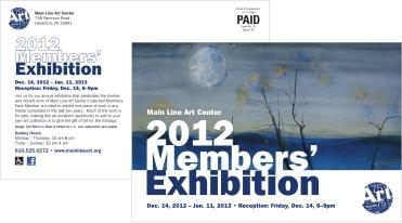 Main Line Art Center Members' Exhibition Postcard