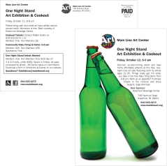 Main Line Art Center One Night Stand Event Postcard