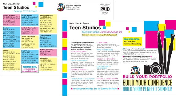 Main Line Art Center Teen Studios Postcard
