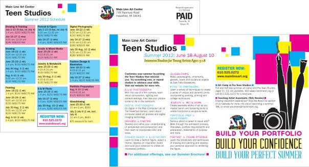 Main Line Art Center Teen Studios Postcard
