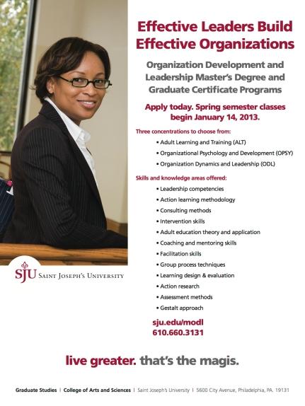 Saint Joseph's University Print Ad