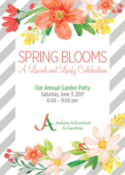 Jenkins Arboretum & Gardens Spring Blooms Party Invitation