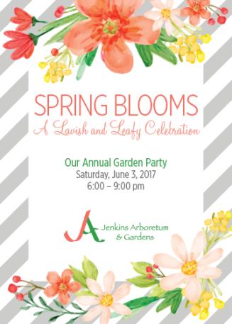 Jenkins Arboretum & Gardens Spring Blooms Party Invitation